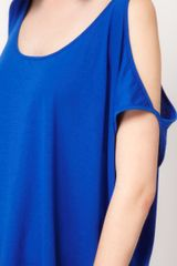 Cheap Monday Cheap Monday Exclusive To Asos Cold Shoulder Top in Blue - Lyst
