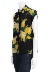 Equipment Leandra Floral Silk Blouse in Multicolor (black) - Lyst