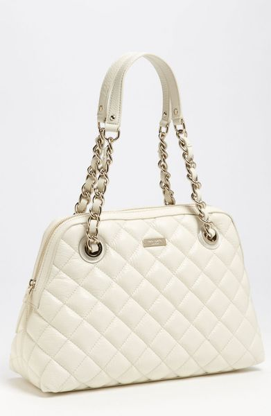 Kate Spade Gold Coast Georgina Quilted Shopper in Beige (clotted cream) - Lyst