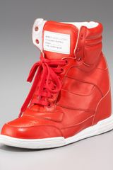 Marc By Marc Jacobs Runway Wedge Hightop Sneaker - Lyst