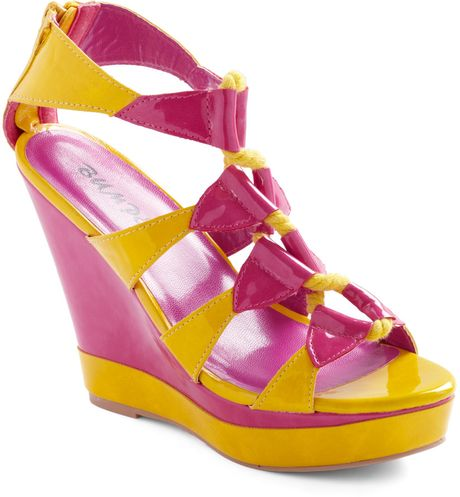 Modcloth Summer Splendor Wedge in Multicolor - Lyst