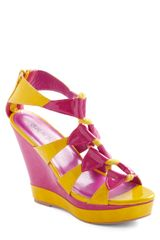 ModCloth Summer Splendor Wedge - Lyst