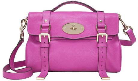Mulberry Exclusive Alexa Satchel Fuschia in Pink (fuschia) - Lyst