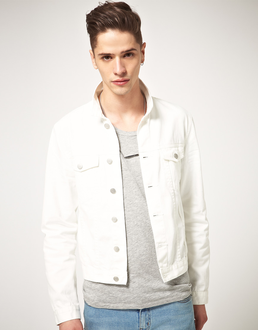 Cheap monday Cheap Monday Tobias Denim Jacket in White for Men | Lyst