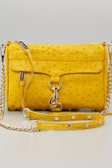 Rebecca Minkoff Mini Mac Chainstrap Bag Yellow - Lyst