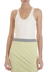 T By Alexander Wang U-neck Tank - Lyst