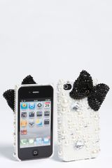 Tasha Bow and Pearl Iphone 4 4s Case in Black (black and white) - Lyst
