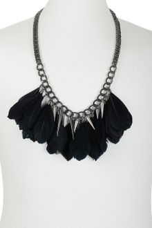 Topman Feather and Spike Chain - Lyst