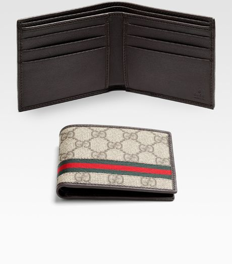Gucci Gg Plus Billfold in Beige for Men - Lyst