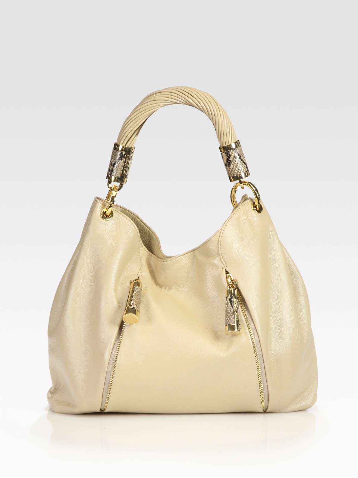 Discount Michael Kors Tonne Hobo - Bags Michael Kors Tonne Hobo Bag Beige
