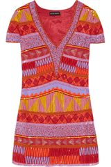 Antik Batik Jacara Embellished Georgette Mini Dress - Lyst