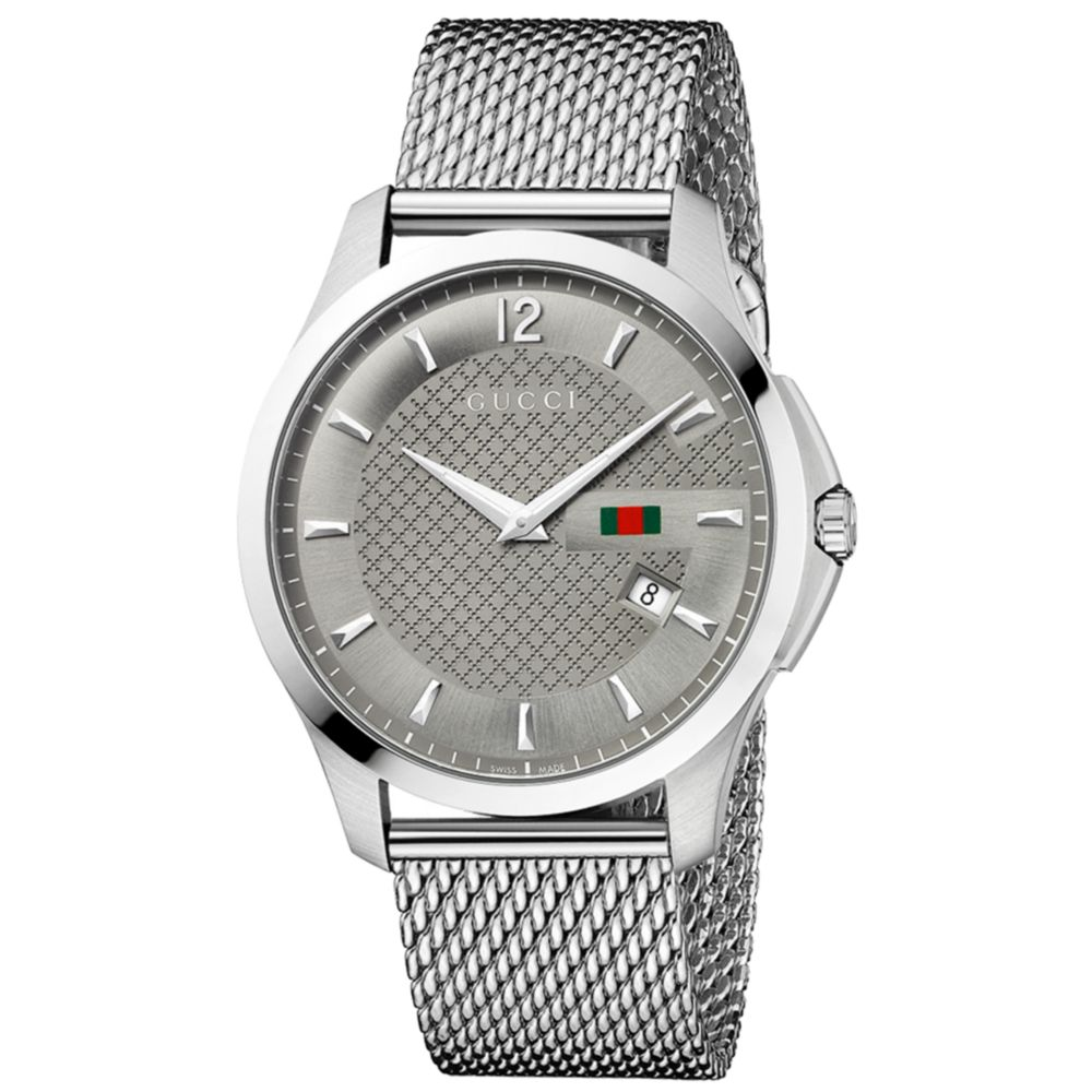conrad silver mesh unisex watch products watches charles metal