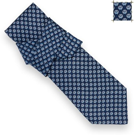 Hermes Wool La La Tie in Blue for Men - Lyst