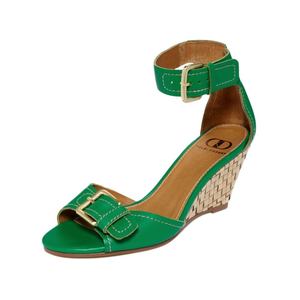 kelsi dagger gemini wedge sandals in green green