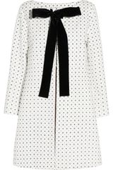Miu Miu Velvettrimmed Printed Cotton Coat - Lyst