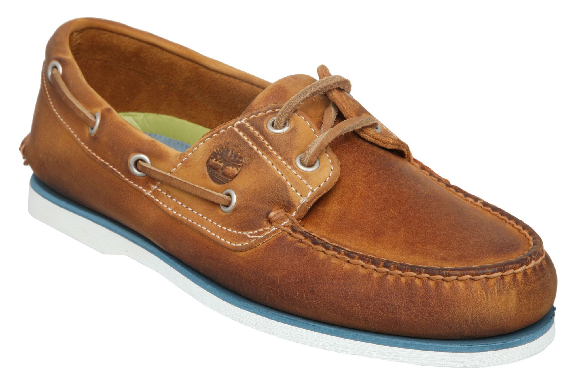 timberland boat shoes in brown for lyst