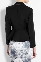 Acne Black Turner Raw Peplum Jacket in Black - Lyst