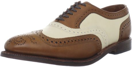 Allen Edmonds Allen Edmonds Mens Broadstreet Wingtip Oxford in Brown for Men (walnut/bone) - Lyst