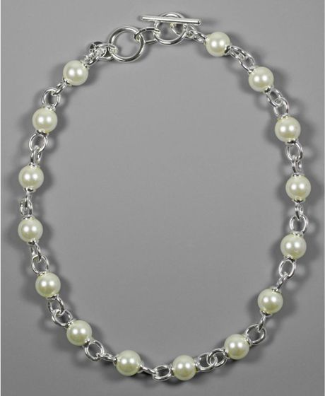 Anne Klein Glass Pearl in Gray (pearl) - Lyst