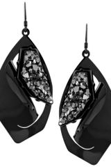 BCBGeneration Hematite Plated Rock Crystal Earrings