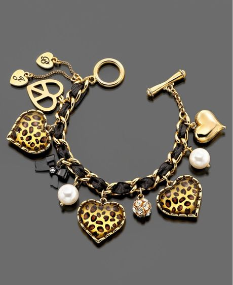 Betsey Johnson Leopard Heart in Gold (leopard) - Lyst