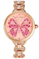 Betsey Johnson Rose Gold Tone Stainless Steel and Crystal Accent Bracelet Watch  in Pink (rose) - Lyst