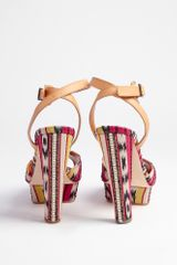 Carven Tribal Jacquard Heel in Multicolor (multicoloured) - Lyst