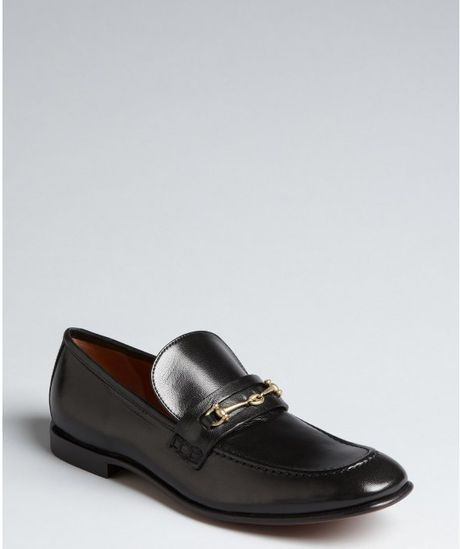 Celine Black Leather Horsebit Loafers in Black - Lyst