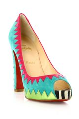 Christian Louboutin Tibu 120mm Pumps in Blue (turquoise) - Lyst