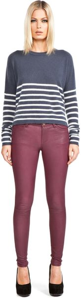 Current/elliott Leather Pants in Purple (fig) - Lyst