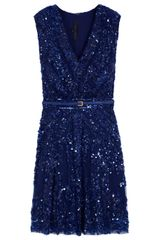 Elie Saab Short Sleeve Beaded Dress