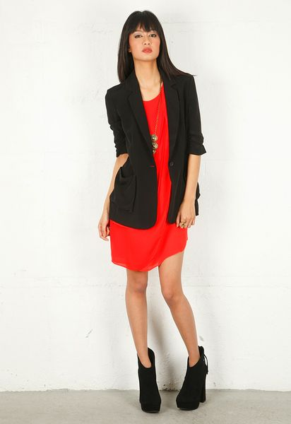 Elizabeth And James Elizabeth and James Drapey James Blazer in Black - Lyst
