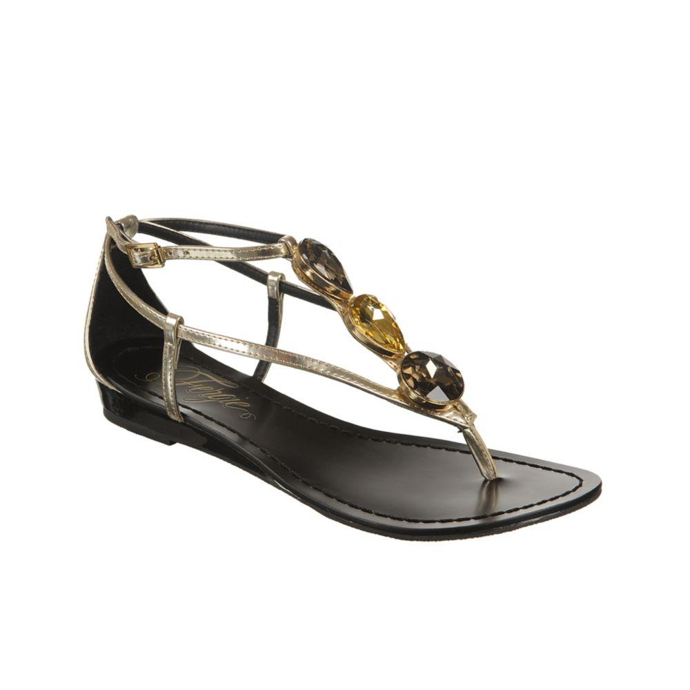 fergie trixter wedge sandals in gold lyst
