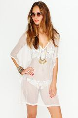 Free People Fishnet Beach Cover Up in White (ivory) - Lyst