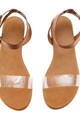 H&m Sandals in Brown - Lyst