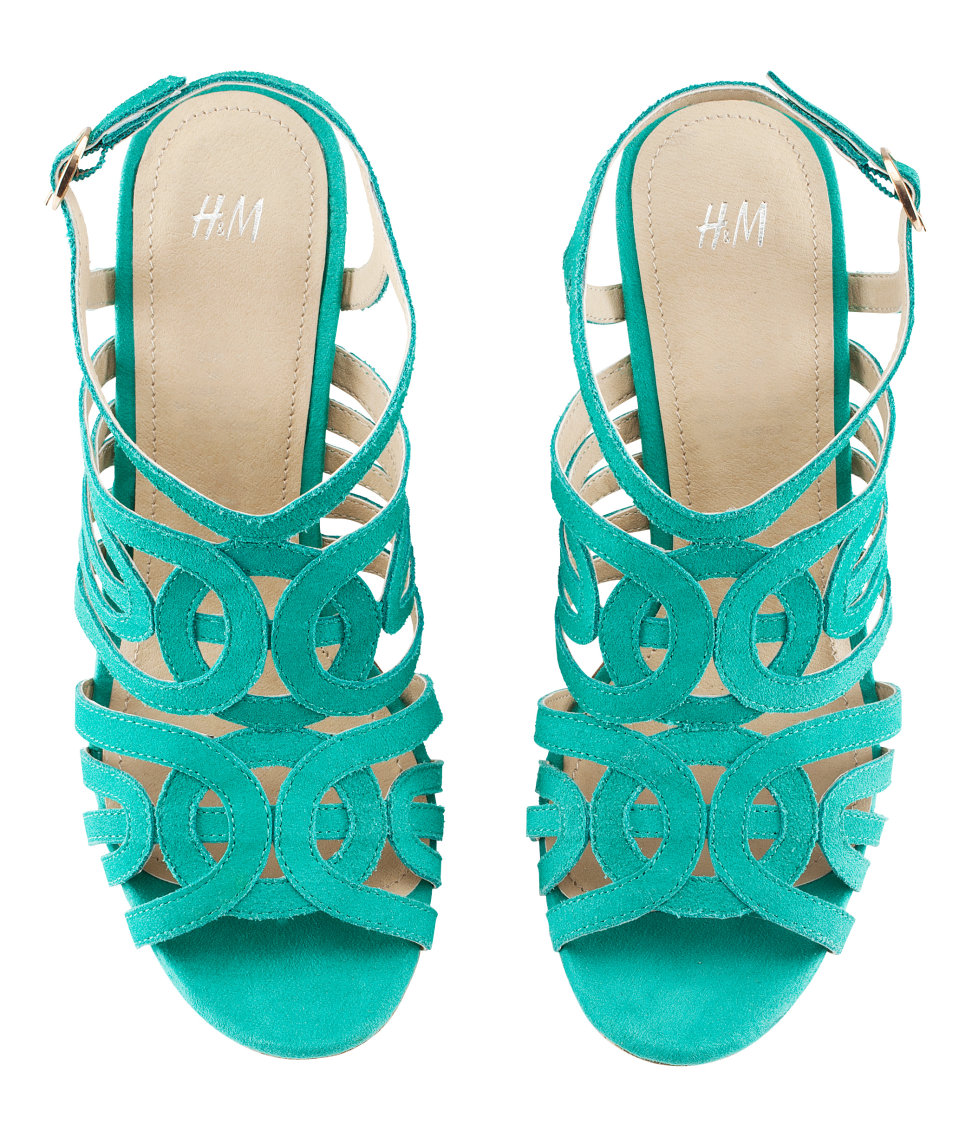Lyst H Amp M Suede Shoes In Blue