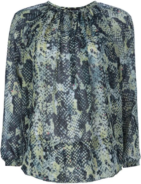 Isabel Marant Snakeskin Print Top in Animal (green) - Lyst