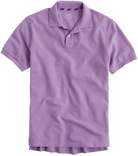 J.crew Repp Piqué Polo in Purple for Men (hampton purple) - Lyst