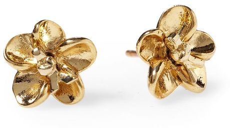 Marc By Marc Jacobs Flower Twist Stud Earrings in Gold (pale oro) - Lyst