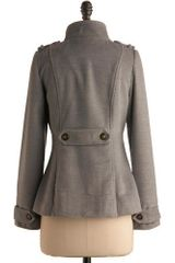 Modcloth Better Slate Than Never Jacket in Gray (slate) - Lyst