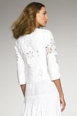 Oscar De La Renta Battenberg Lace Jacket in White - Lyst