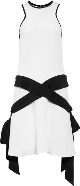 Prabal Gurung Paneled Silk Crepejersey Dress - Lyst
