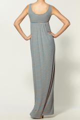 Rachel Pally Rib Izzy Dress in Gray (smoothie stripe) - Lyst