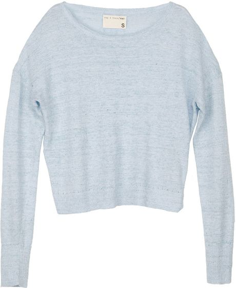 Rag & Bone Pamploma Pullover in Blue - Lyst