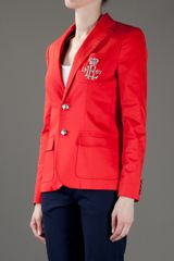 Ralph Lauren Blue Label Classic Blazer in Red - Lyst