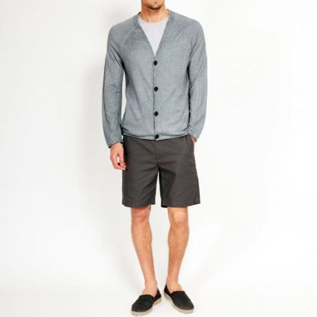 Rogan Kronos Cardigan in Gray for Men - Lyst