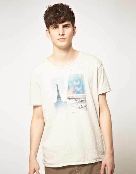 Scotch & Soda Paris Tshirt in White for Men (chalkwhite) - Lyst