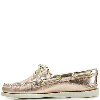 06984a0016c8 Sperry Top-Sider Authentic Original 2 Eye Rosegold Metallic Leather ...