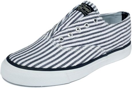 Sperry Top-sider Cameron Sneakers in Blue (navy seersucker) - Lyst