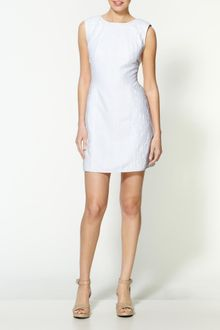 Tibi Astor Jacquard Cap Sleeve Dress - Lyst